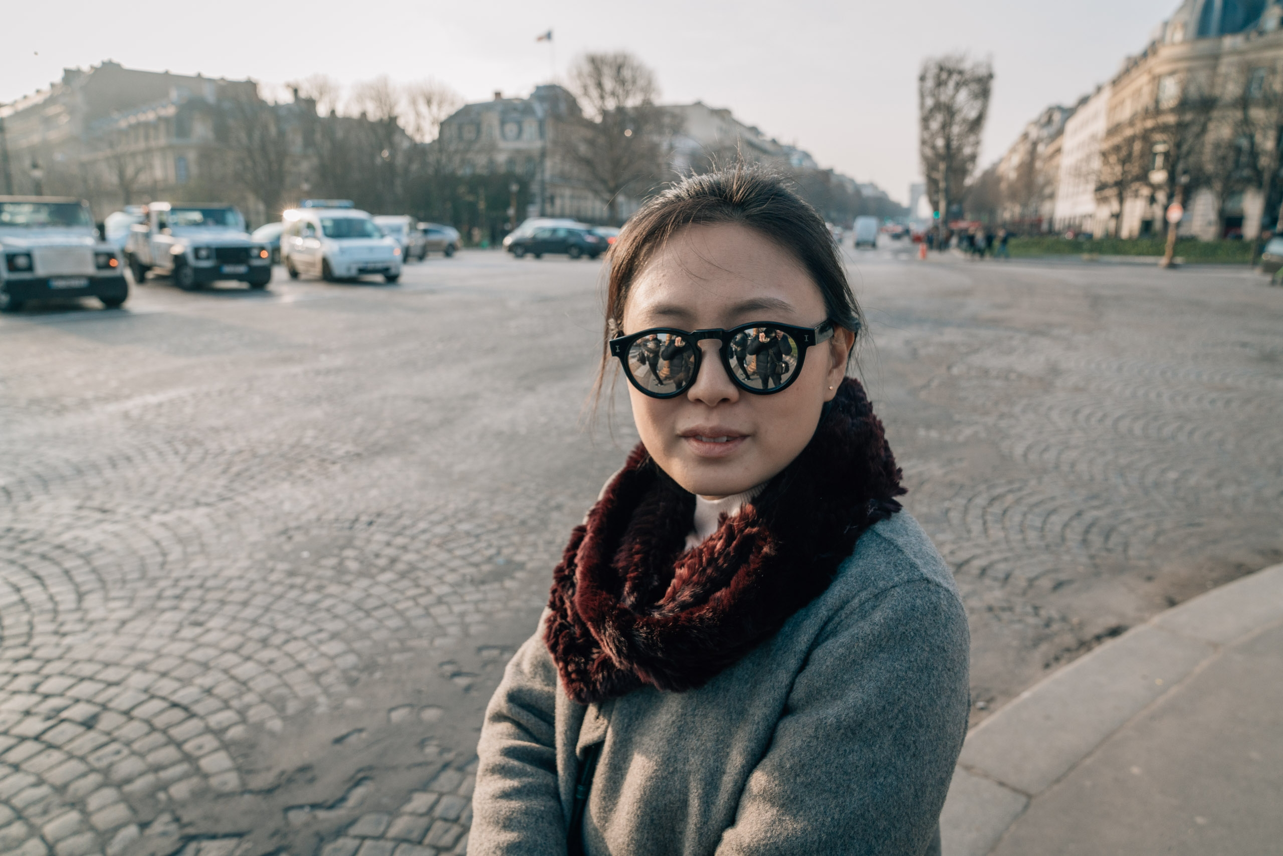Jessica on the Streets of Paris