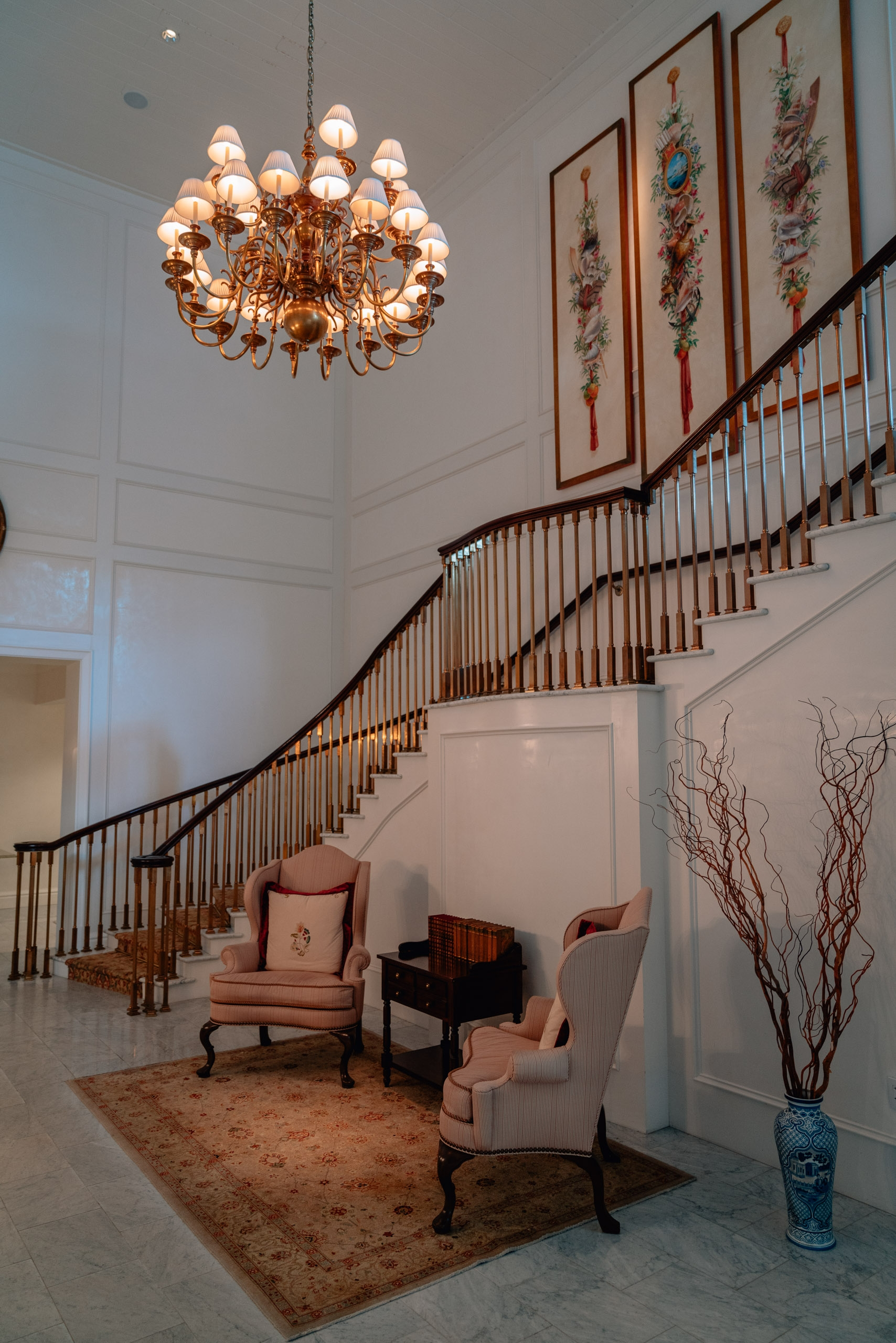 The Grand Staircase at the Rosewood Bermuda