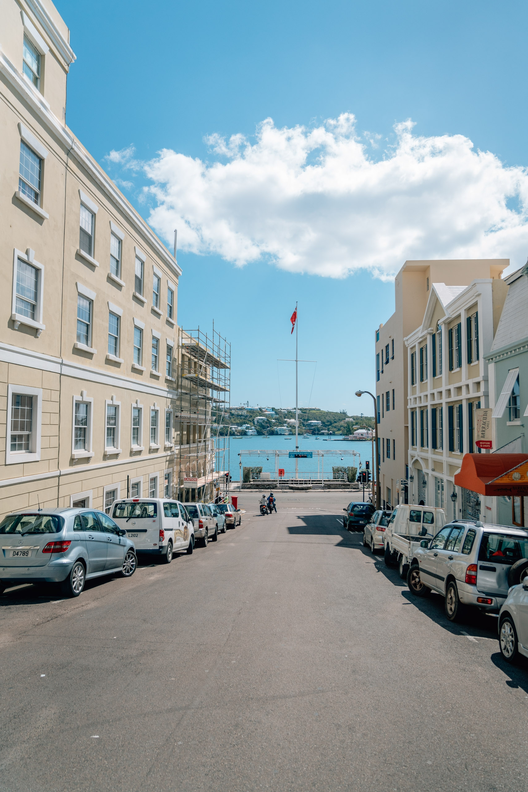 Countdown to the Americas Cup 2017 in Downtown Hamilton Bermuda