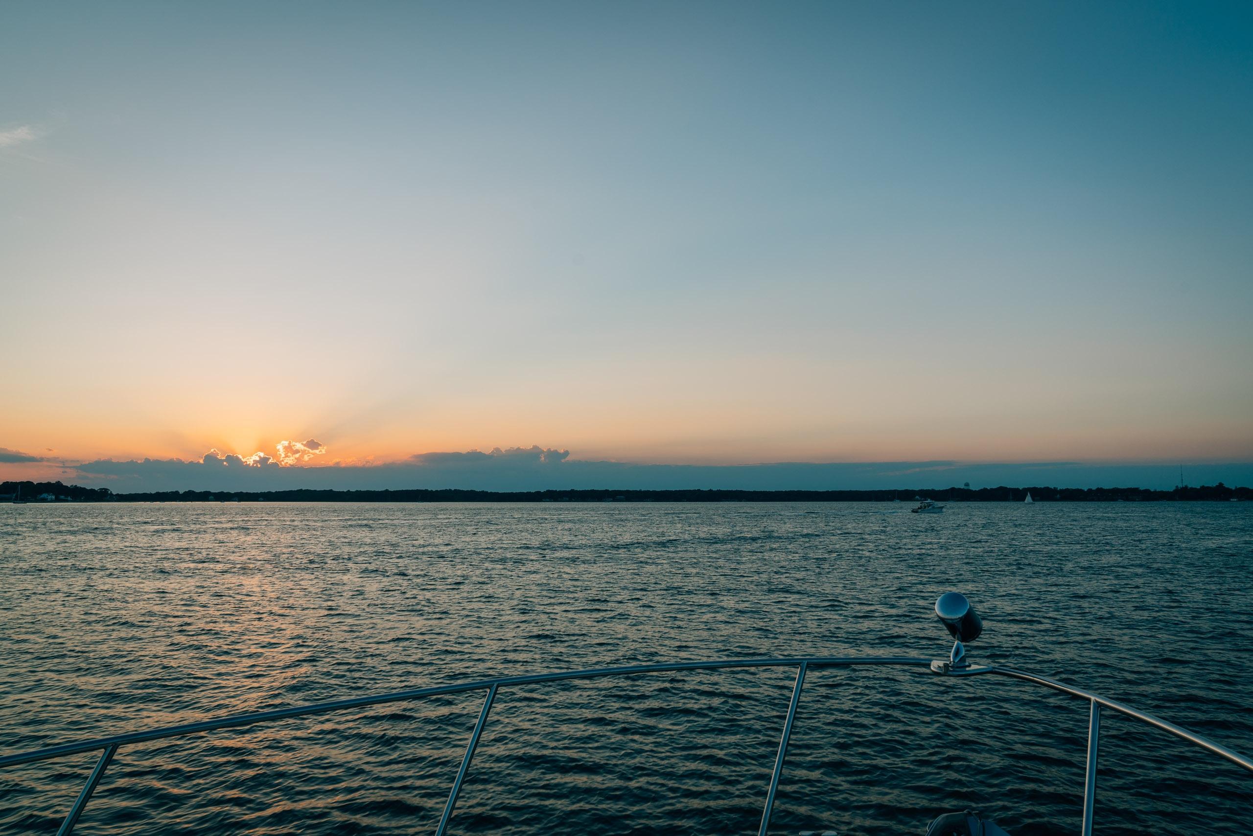 Sunset over Shelter Island