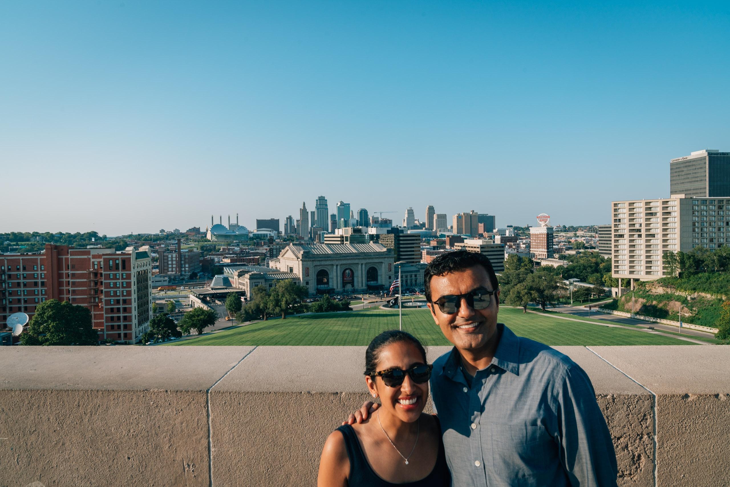 Ragini and Moki at Liberty Memorial