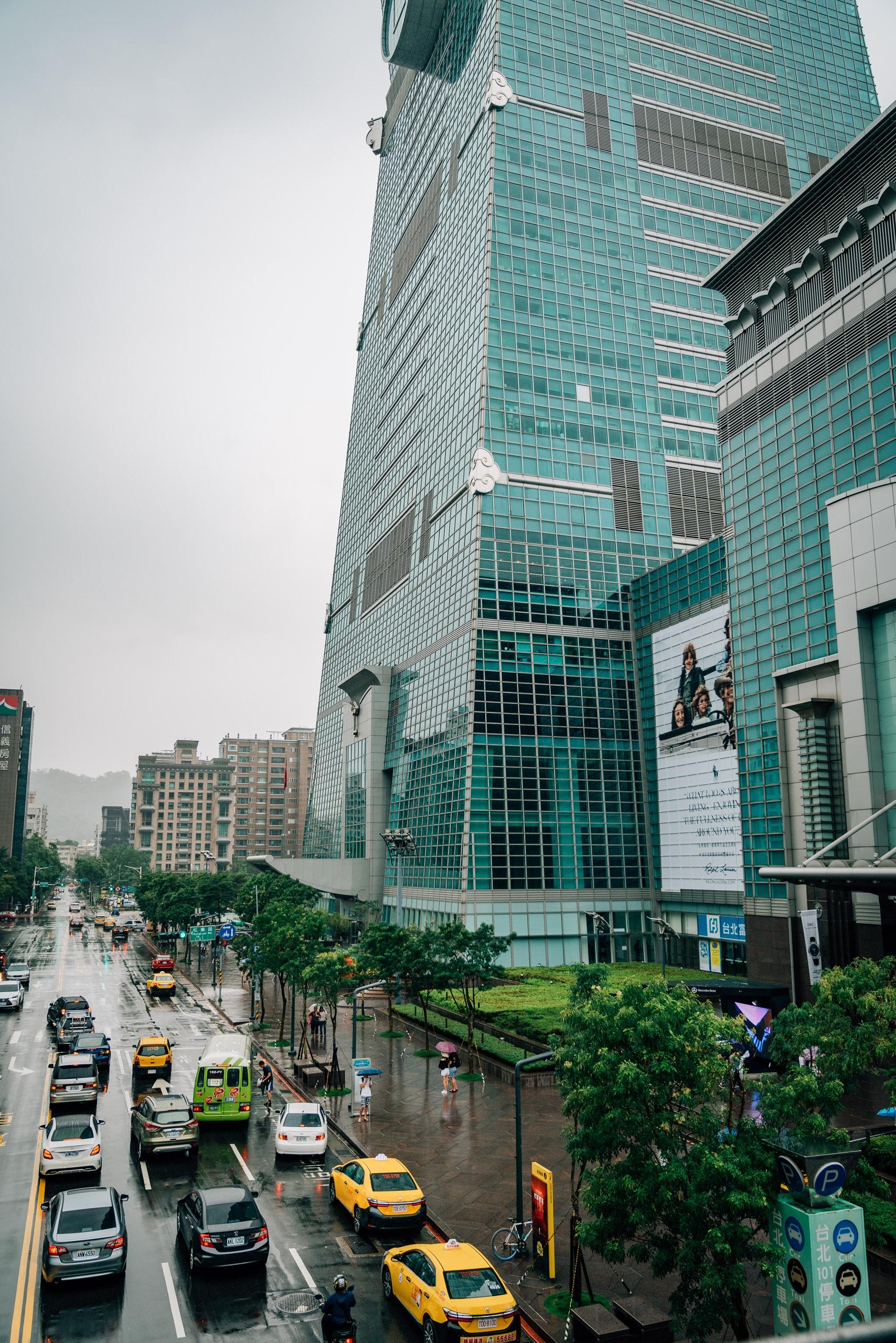 A Rainy Day outside Taipei 101