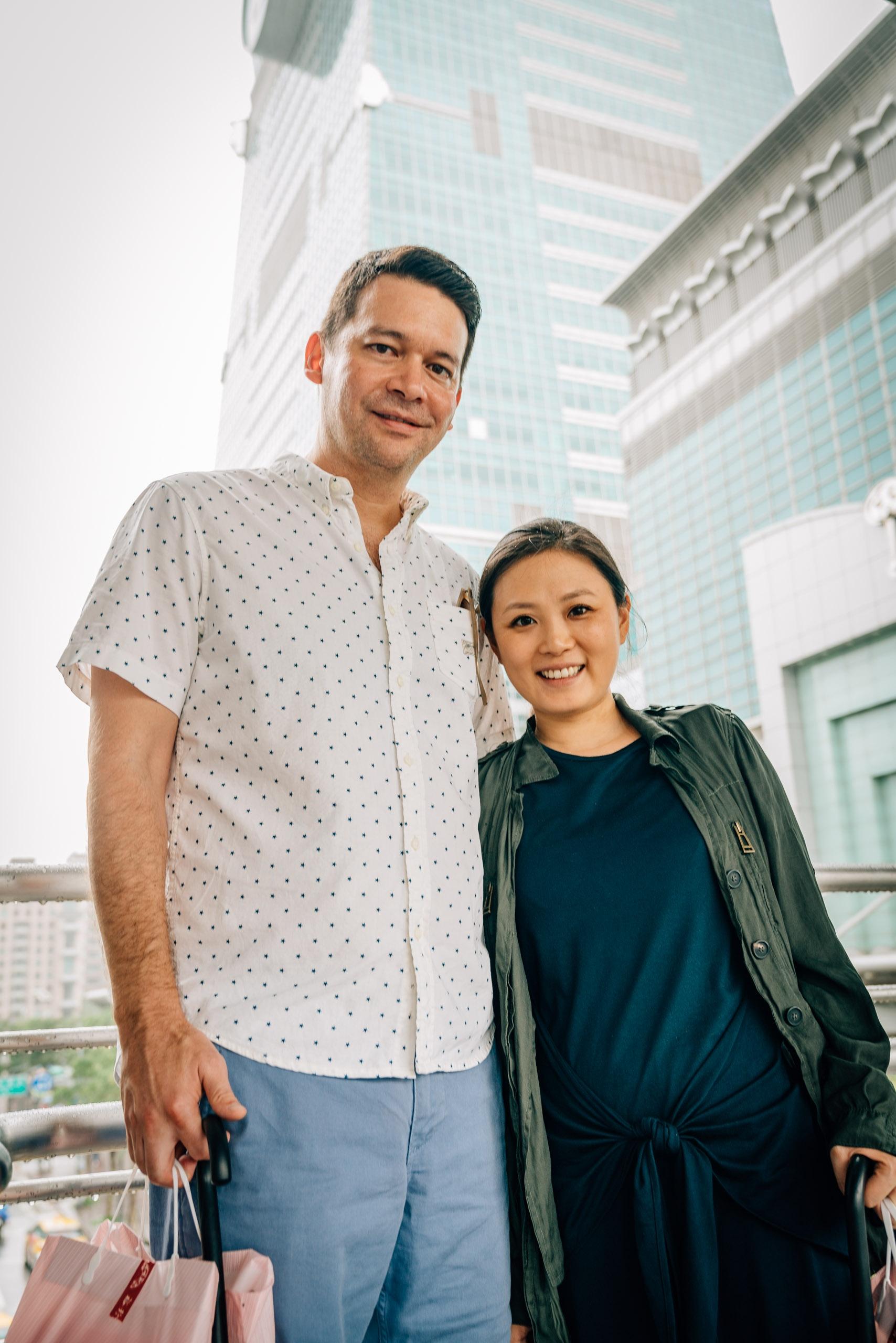 Matt and Jessica at Taipei 101