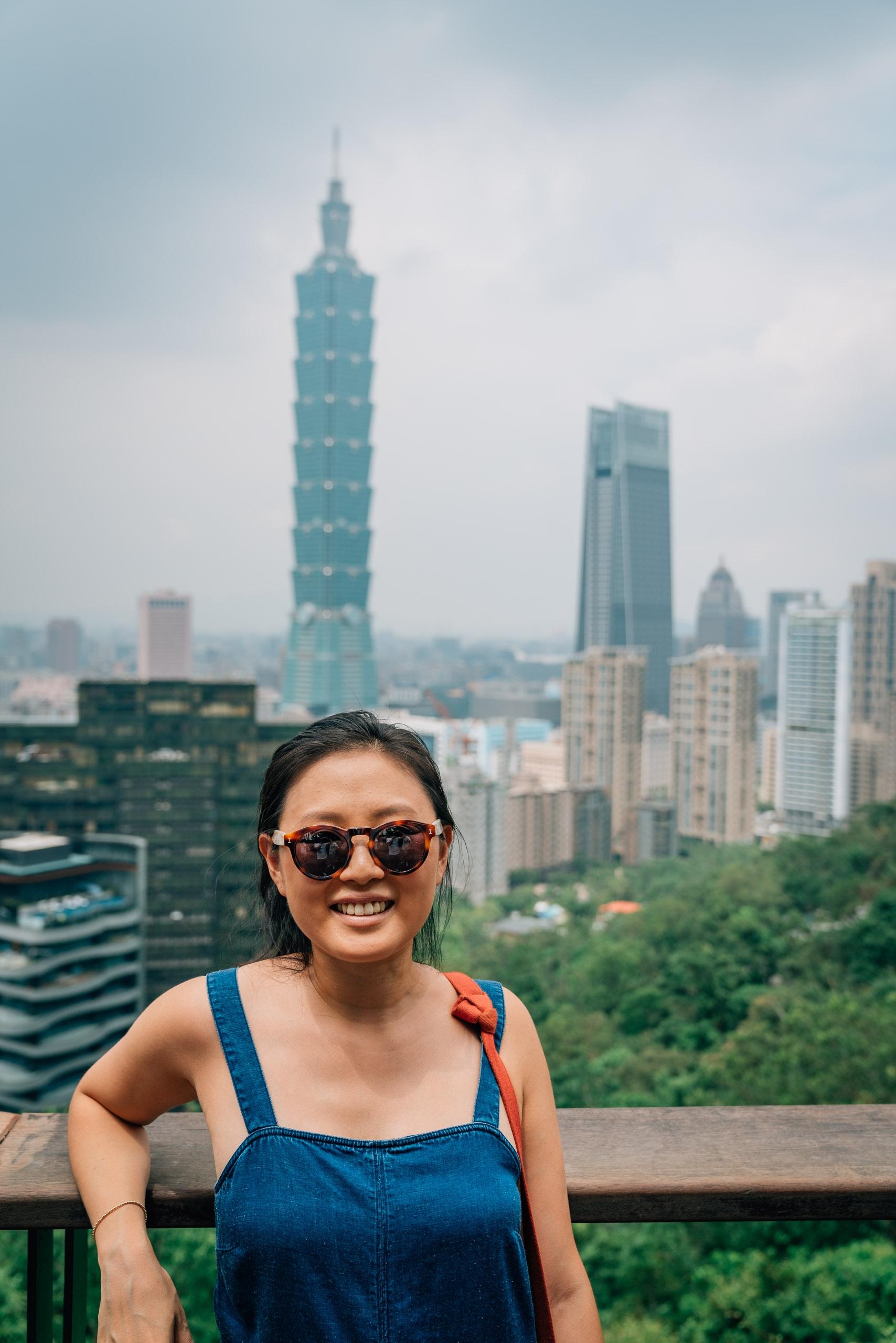 Jessica Overlooking Taipei 101