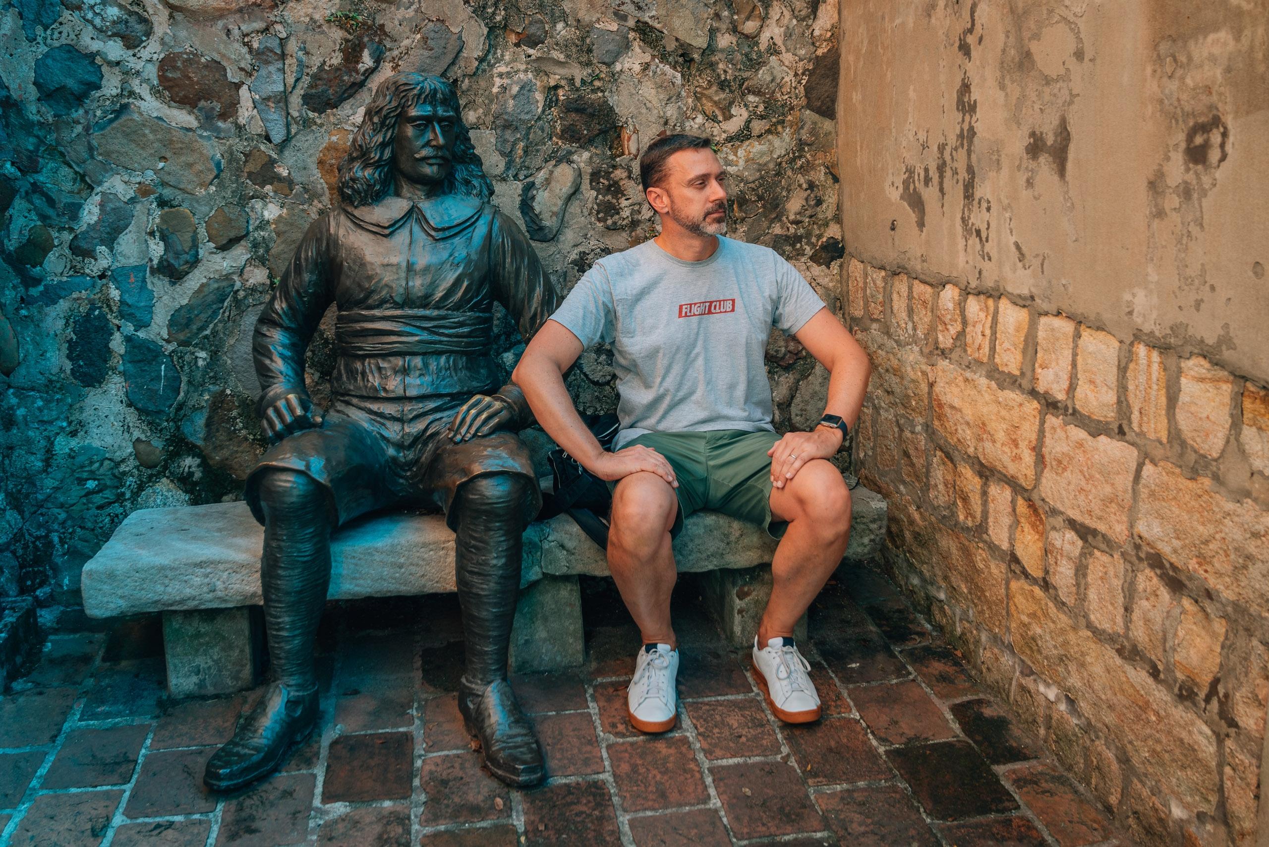 Kris and a Statuesque Friend