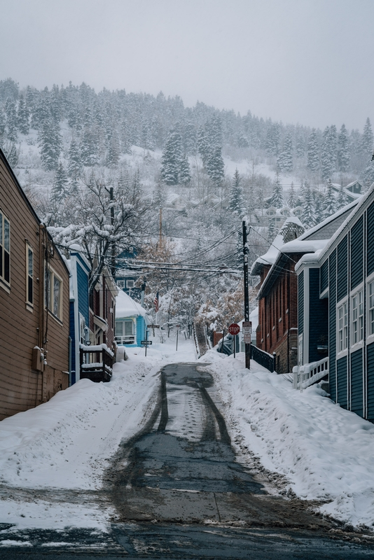 A Snowy Alley of Park City