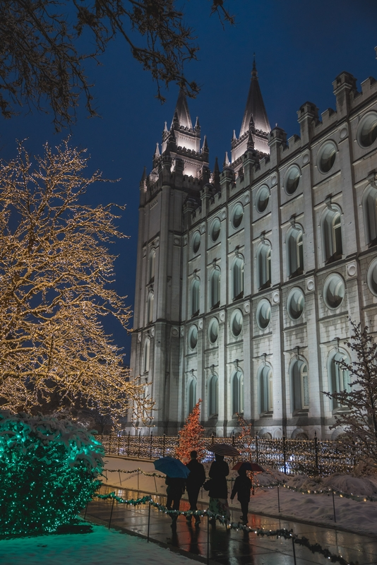 Temple Square at Night 2