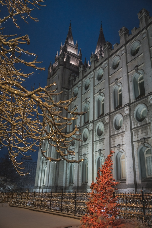 Temple Square at Night