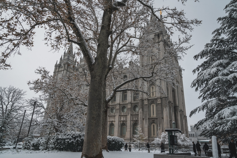 Temple Square in the Snow 2