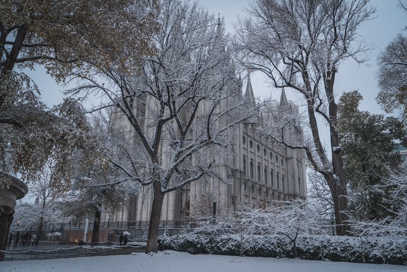 Temple Square in the Snow
