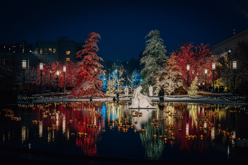 The Temple Reflecting Pool at Night
