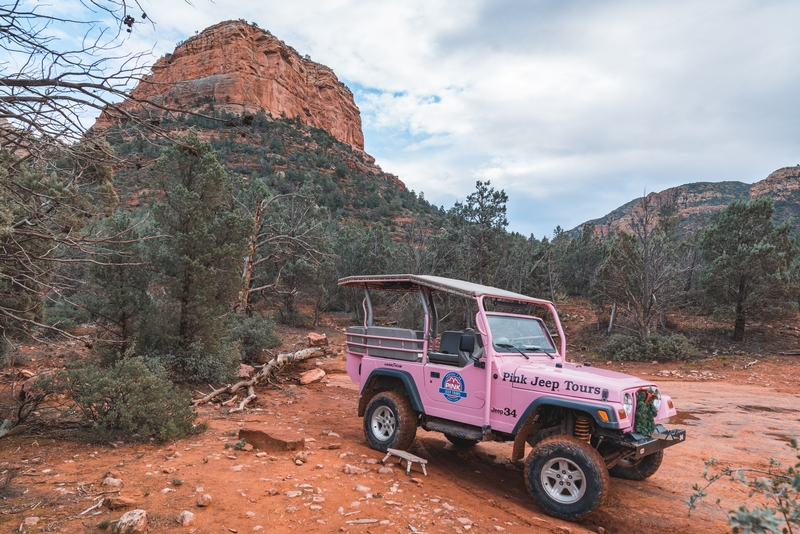 A Break on the Pink Jeep Tour