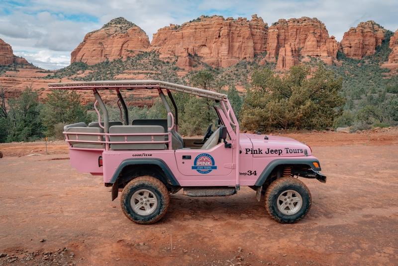The Pink Jeep of the Pink Jeep Tour