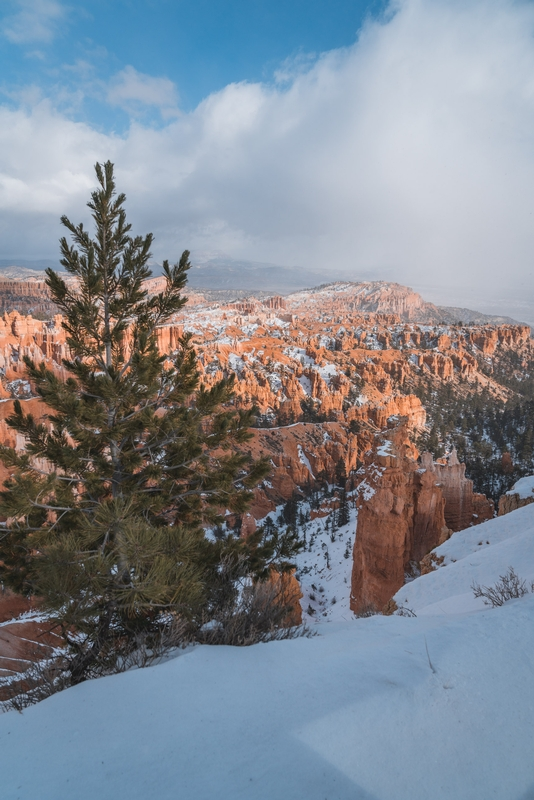 A Snowy Day over Bryce Canyon