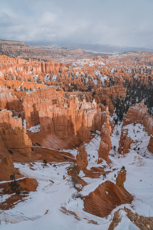 Sun and Snow at Bryce Canyon