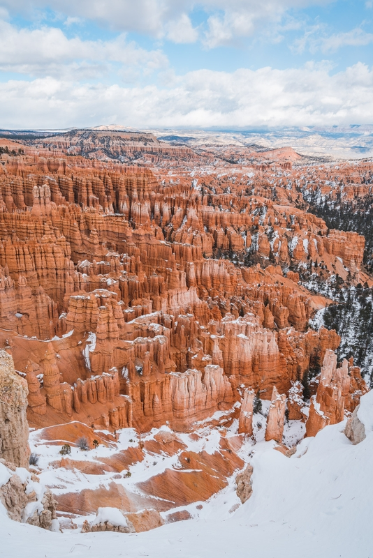 The Sun and Blue Sky at Bryce Canyon