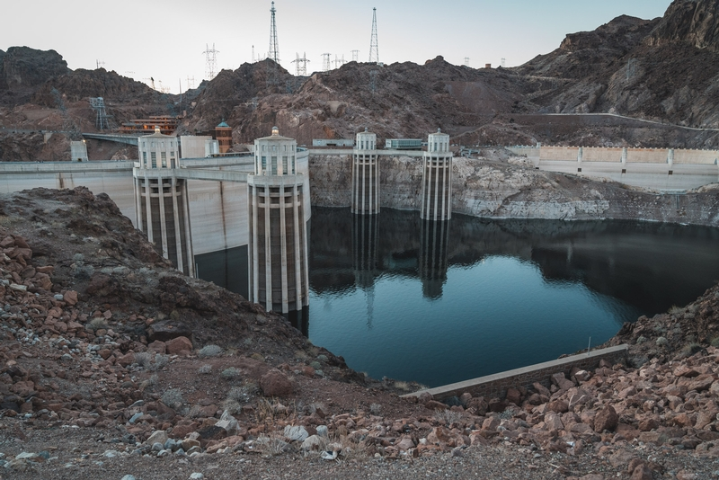 Behind the Hoover Dam
