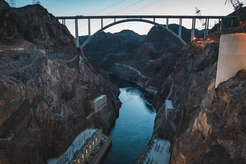 Leaving the Hoover Dam