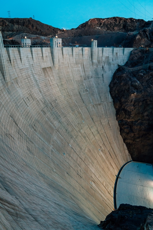 The Hoover Dam at Sunset 2