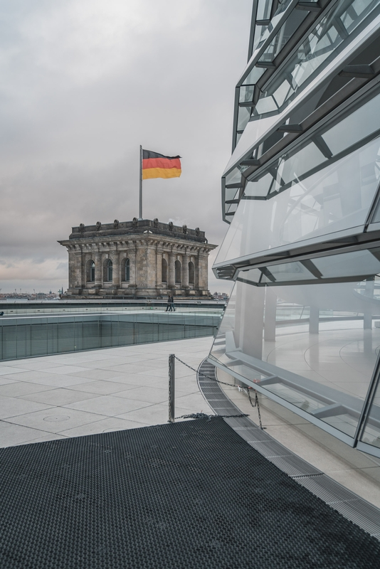 Atop the Reichstag
