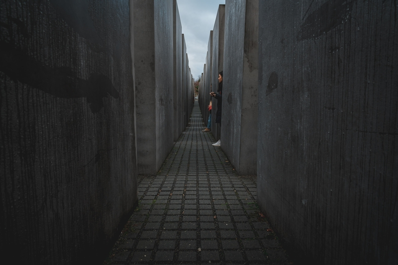 Inside the Monument to the Murdered Jews of Europe - Wide