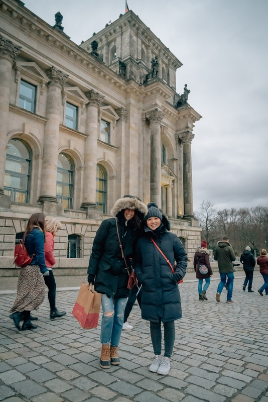 Nicole & Jessica Outside the Reichstag