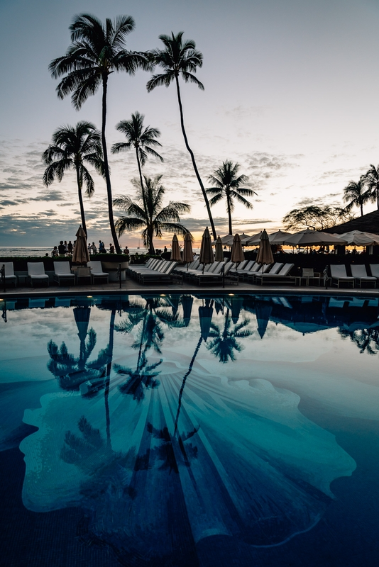 The Orchid Pool at the Halekulani Sunset Part II